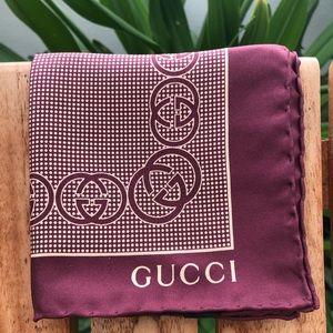Authentic Gucci Silk Scarf